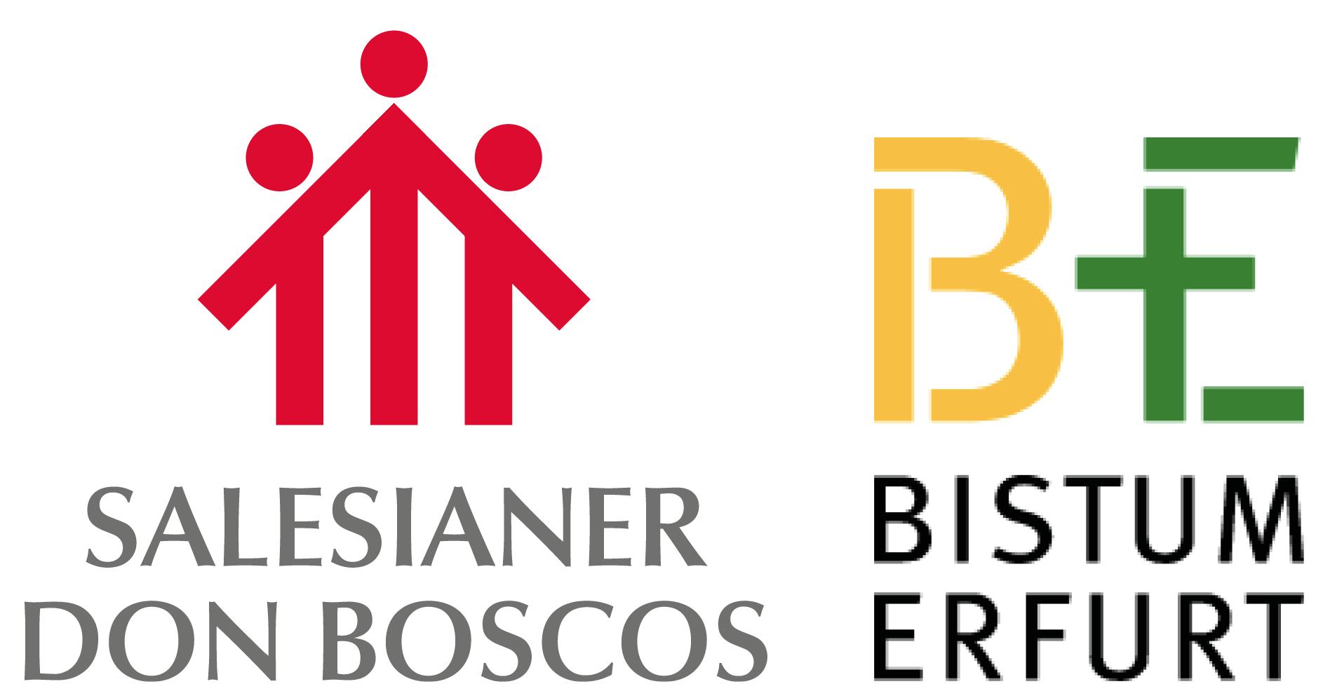 Logos SDB und Bistum Erfurt